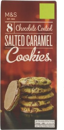 Marks & Spencer / M & S Chocolate Coated Salted Caramel Cookies