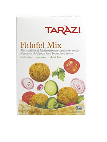 Tarazi Falafel Mix | Great as Veggie Burger Mix, Non-GMO, Kosher, All Natural, Made In California | Original Falafel Mix, 1 Pound Box