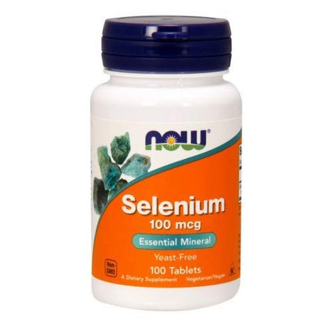 Selenium, 100mcg, 100 Tabs by Now Foods (Pack of 4)
