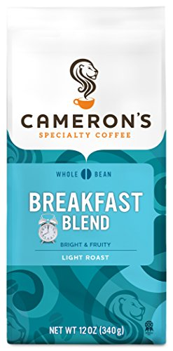 Cameron's Coffee Roasted Whole Bean Coffee, Breakfast Blend, 12 Ounce