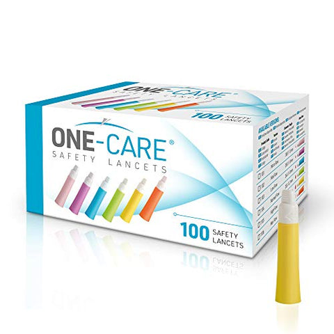 MediVena ONE-Care Safety Lancets, Contact-Activated, 21G x 2.2mm, 100ct