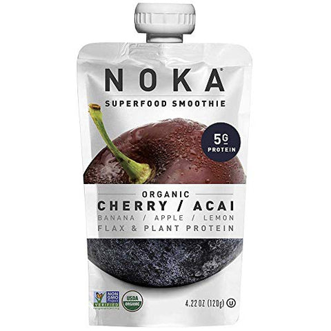 Noka Cherry Acai Superfruit Smoothie, 4.22 Ounce -- 12 per case.
