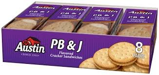 Austin, PB & J Cracker Sandwiches, 8 Count, 11oz Tray (Pack of 4)