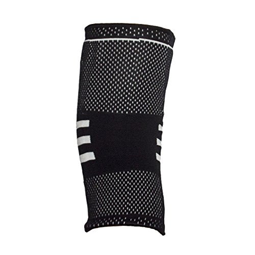 Venom Knee Sleeve Gel Padded Support w/Side Stabilizers - Elastic Compression for Runners & Jumpers Knee, Arthritis Pain, ACL, Basketball, Soccer, Crossfit, Lifting, Running, Sports, Men, Women (M)