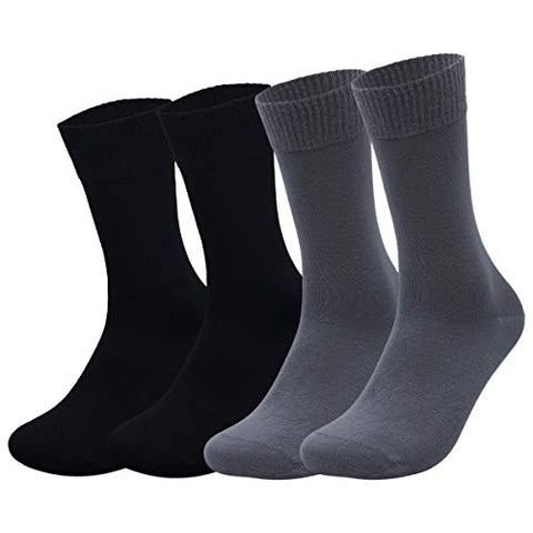 McWay Diabetic Bamboo Socks Seamless Loose Calf Socks (Diabetic Socks, 4)
