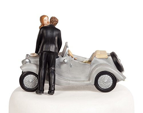 "Wedding Collectibles ""I'll Love U 4 EVER"" Car Wedding Cake Topper"