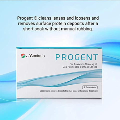 Menicon Progent 7 Hard Contact Lens Solution for Cleaning and Removing Protein Deposits