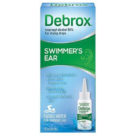 Debrox Swimmer's Ear Relief Ear Drying Drops - 1.0 Fl Oz (Pack of 4)