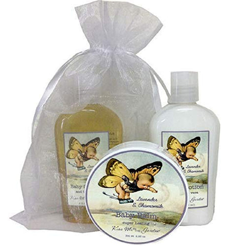 Kiss Me In The Garden - Baby Collection - Baby Bath Gift Set - 3 PC Gift Set/Item# Kiss00017