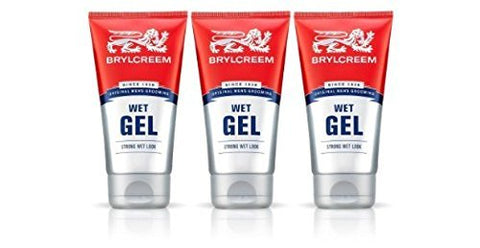 THREE PACKS of Brylcreem Wet Look Gel by Brylcreem