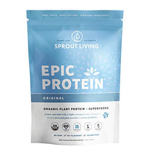 Epic Protein, Organic Plant Protein + Superfoods, Original | 26 Grams Vegan Protein, Gluten Free, No Gums, No Flavoring (1 Pound, 13 Servings)