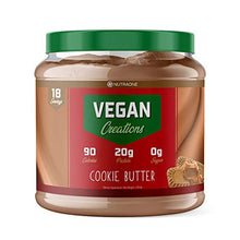 Vegan Creations Plant Based Protein Powder by NutraOne  Vegan Protein Powder, Dairy Free, Pea Protein Isolate and Brown Rice (Cookie Butter)