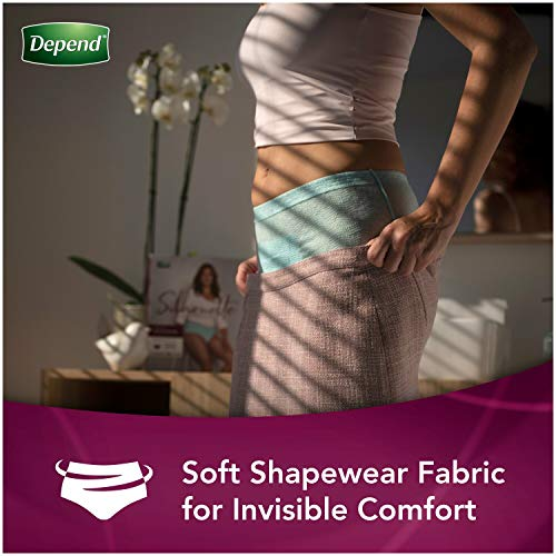 Depend Silhouette Incontinence Underwear for Women, Maximum Absorbency, Disposable, Large/Extra-Large, Pink, 52 Count (Packaging May Vary) (10036000366362)