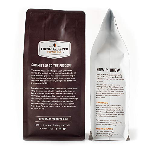 Fresh Roasted Coffee LLC, Blackbeard's Revenge Coffee, Artisan Blend, Medium Roast, Whole Bean, 5 Pound Bag