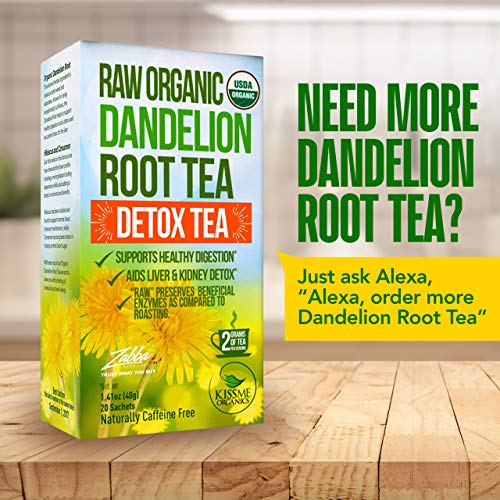Dandelion Root Tea Detox Tea - Raw Organic Vitamin Rich Digestive - Helps Improve Digestion and Immune System - Anti-inflammatory and Antioxidant (1 Pack)