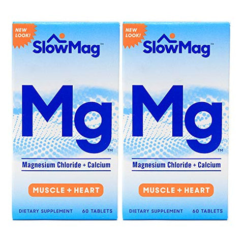 Slow-Mag Slow-Mag Magnesium Chloride With Calcium, 60 tabs Pack of 2 by Slow-Mag