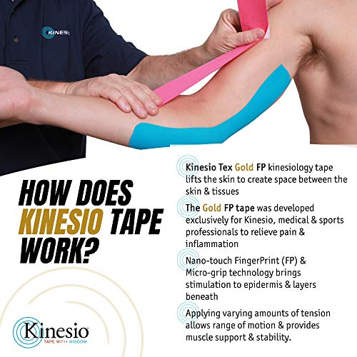 Kinesio Taping - Elastic Therapeutic Athletic Tape Tex Gold FP - Red  2 in. x 13 ft