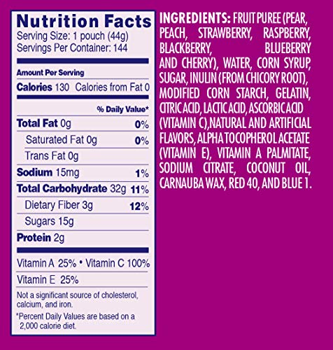 Welch's Fruit Snacks, Berries 'n Cherries, Gluten Free, Bulk Pack, 1.55 oz Individual Single Serve Bags (Pack of 144)