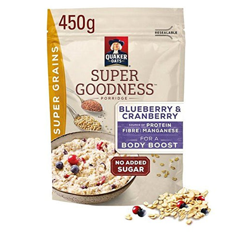 Quaker Oat Super Grains Mixed Berries Porridge 450g