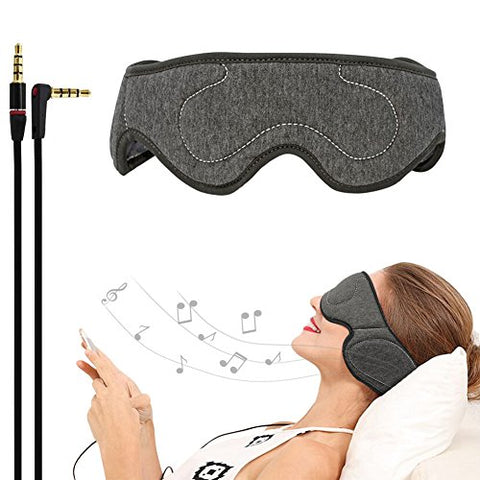 ACOTOP AP-PH-DGA Sleep Headphones Eye Mask with Ultra Thin Speakers, Perfect for Sleep Noise Canceling Headphones, Air Travel, Meditation and Relaxation, Dark Grey
