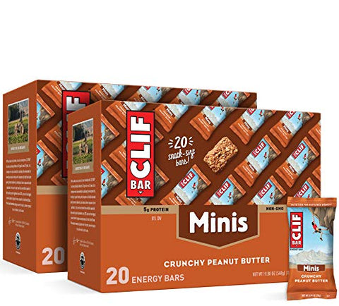 CLIF BAR - Mini Energy Bars - Crunchy Peanut Butter - (0.99 Ounce Snack Bars, 40 Count)