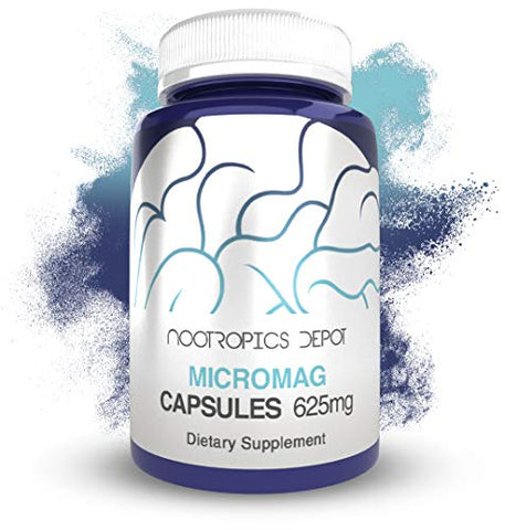 MicroMag Magnesium Capsules | 625mg | 30 Count | Contains 200mg of Elemental Magnesium
