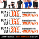 Image of Mava Sports Knee Compression Sleeve Support for Men and Women with Perfect 7mm Neoprene Material for Powerlifting, Weightlifting, Body Building, Gym Workout, WOD and Squats (Black, Small)