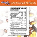 Image of NOW Supplements, Instant Energy B-12 (2,000 mcg of B-12 per packet), Cellular Energy Boost*, 75 Packets