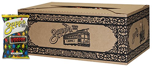 Zapps New Orleans Kettle-Style Potato Chips, Voodoo Flavor  Crunchy Chips with a Spicy Kick, Great for Lunches or Snacking on the Go, 2 oz. Bag (Pack of 25)