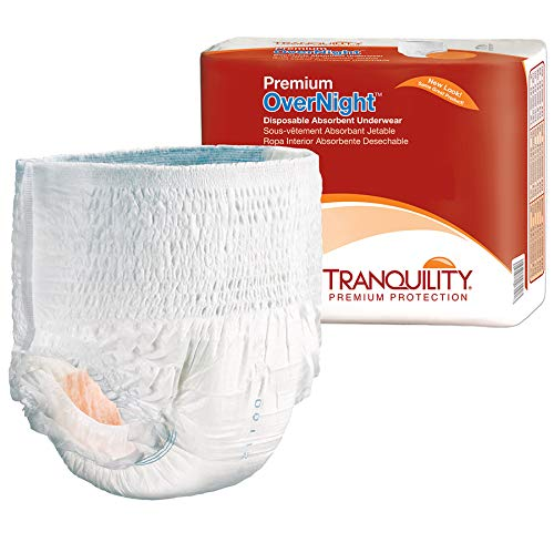 Tranquility Premium Overnight Disposable Absorbent Underwear (DAU) (Medium - 18 Count), White