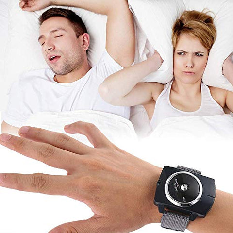 MQSS Sleep Connection Anti-snoring Bracelet, Smart Snore Stopper Stop Snoring Biosensor Patch Help Wristband Watch Sleeping Aid HJHY