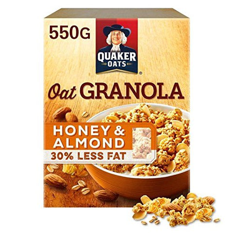 Quaker Oat Granola Honey & Almond 550g
