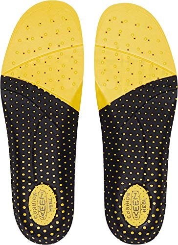 KEEN Utility Men's K-10 Insole Replacement with Heel Pad for Neutral Arch Support in Work Boots Accessories, Yellow, L