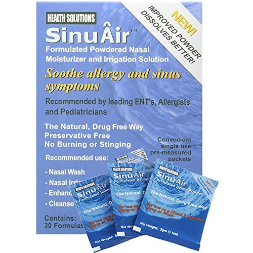 SinuAir Powdered Saline 90 Convenient Packets (3 Boxes, 30 Pk. Each)