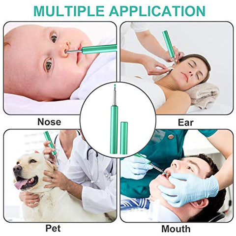 Wireless Ear Wax Removal Clean Kit, Electric Endoscope with Lights and 8 Replaceable Spoons Cordless Ear Wax Otoscope
