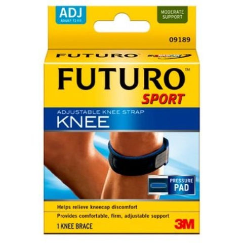 3M Health Care 09189EN Knee Strap, Adjustable, One Size, Black (Pack of 12)