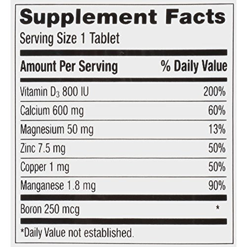 Caltrate 2 in 1 DUAL ACTION, 600+D3 Plus Minerals, Calcium & Vitamin D3 Supplement Tablet, 600 mg - 120 Count