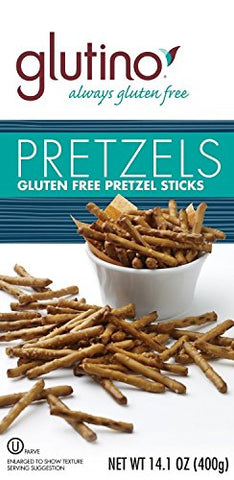 Glutino Gluten Free Pretzel Sticks, 14.1-Ounce Bags (Pack of 2)