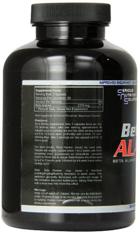 Serious Nutrition Solution Beta Alanine Capsules, 240 Count