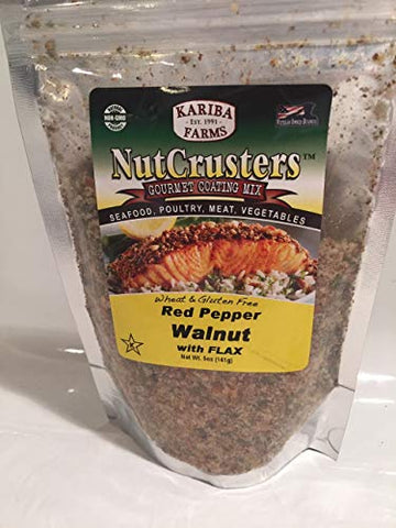 Red Pepper Walnut with Flax NutCrusters Gourmet Coating Mix 5 oz.