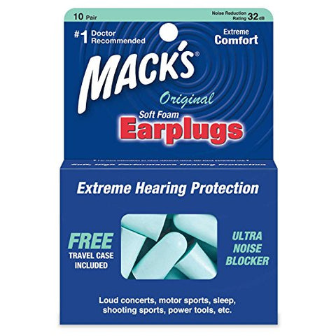 Mack's Soft Foam Earplugs 10 Pairs (Pack of 7)