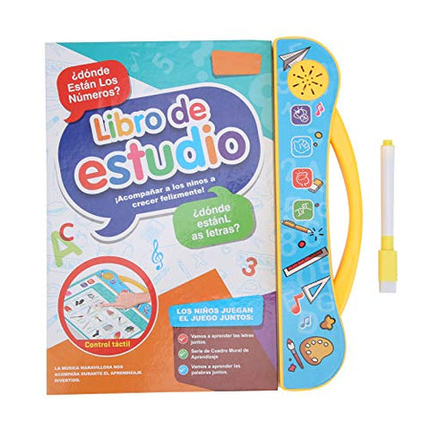 Spanish ABC Sound Book, English Electronic Children's Sound Book, for Kids Above 3 Years Old Letters Learning(Yellow)