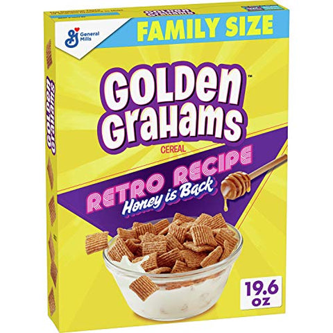 Golden Grahams Cereal, Graham Cracker Taste, Whole Grain, 8 Boxes, 19.6 oz