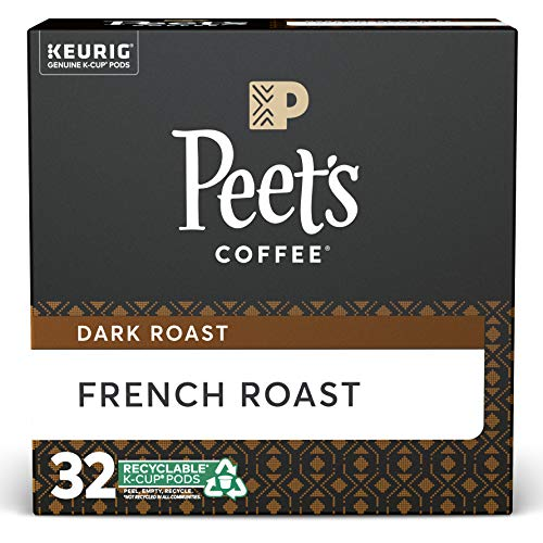 Peet's Coffee French Roast, Dark Roast, K-Cup, 32 ct