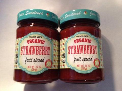 Trader Joe's Organic Strawberry Fruit Spread - 2 Pack