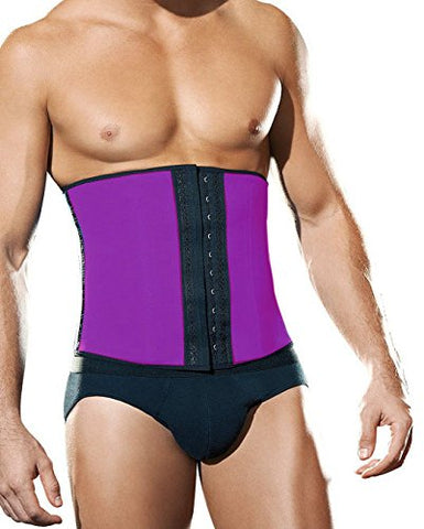 Wellington Orthopedic Men's Neoprene and Spandex Workout Style Waist Cincher, Hot Purple, Large, 13 Ounce