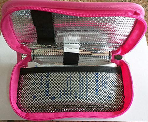 Medicine/Diabetes Insulin Pen Travel Cooler Case-(Pink)