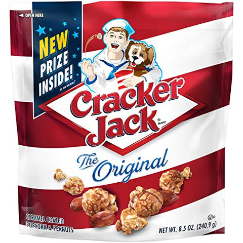 Cracker Jack Original Caramel Coated Popcorn and Peanuts 8.5 Oz. [Pack of 3]