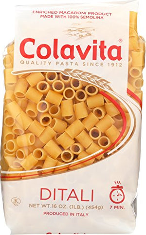 Colavita Pasta, Ditali, 1 Pound (Pack of 20)