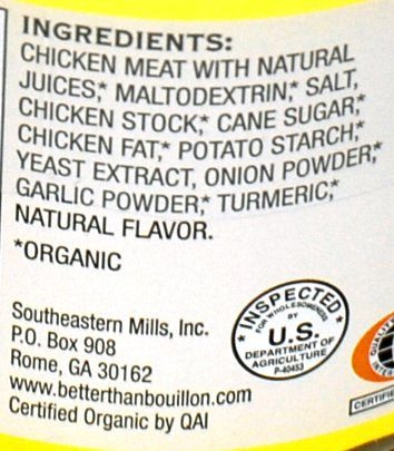 Better Than Bouillon Organic Roasted Chicken Base, Reduced Sodium - 16 oz (2 pack)